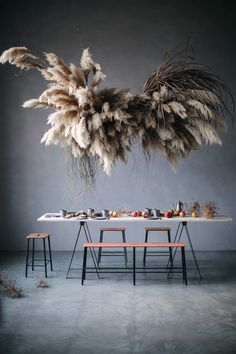 my scandinavian home: Pampas installation in the Magnificent Berlin Studio of Our Food Stories