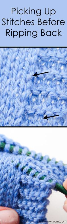 Tusday's Knitting Tip – Picking Up Stitches Before Ripping Back