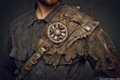 Wasteland Flower Shoulderpad by NuclearSnailStudios postapocalypse steammpunk leather armor cosplay costume LARP LRP equipment gear magic item | Create your own roleplaying game material w/ RPG Bard: www.rpgbard.com | Writing inspiration for Dungeons and Dragons DND D&D Pathfinder PFRPG Warhammer 40k Star Wars Shadowrun Call of Cthulhu Lord of the Rings LoTR + d20 fantasy science fiction scifi horror design | Not Trusty Sword art: click artwork for source