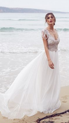 vestidos de novia de playa sencillos