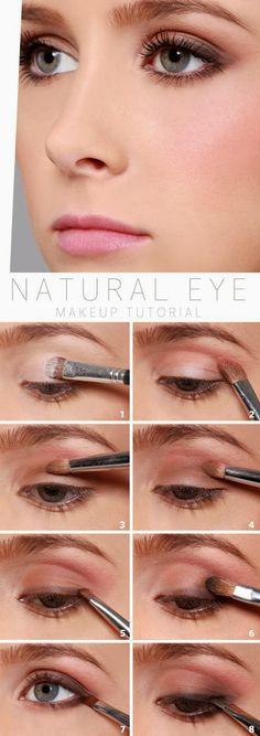 Romantic natural eye makeup tutorial