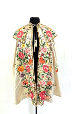 Hey, I found this really awesome Etsy listing at https://www.etsy.com/listing/242315683/vintage-silk-matador-cape-1950s-ivory