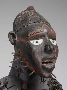 Yombe Nkisi Nkondi Mangaaka Figure, DR Congo http://www.imodara.com/discover/dr-congo-yombe-nkisi-power-figure-nkisi-nkondi-mangaaka-arbiter-power-figure/