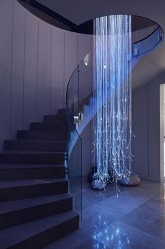 Home Interior Design, Stairs, Chandelier, Fiber, Home Decor, Ladders, Homemade Home Decor, Ladder, Candelabra