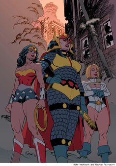Wonder Woman, Big Barda, and Power Girl by Mike Horton and Nathan Fairbairn Best Art Ever (This Week) - 07.06.12 - ComicsAlliance | Comic book culture, news, humor, commentary, and reviews