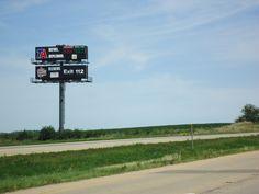 Travel Centers of America billboard located on I-80 near Ottawa IL