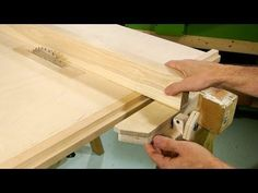 ▶ Homemade table saw fence - YouTube