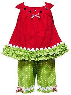 Rare Editions Infant Watermelon Capri Set at ShopStyle