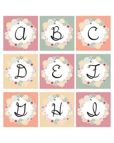 Free Printable Monogramed Floral Letters to Create Banners