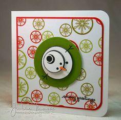 cute snowman, handmade card
