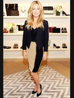 Kate Hudson, Ann Taylor's fresh face, stops in an N.Y.C. company store before heading to Wednesday's Clinton Global Initiative annual meeting.