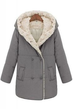 e382248b03053a Hooded Long Sleeve Cotton-Padded Winter Coat Kleidung, Jacken,  Wintermantel, Pullover,