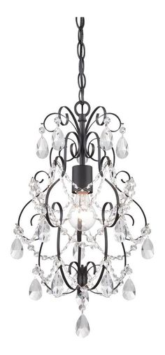 Designers Fountain Flora Oil Rubbed Bronze One Light Mini Chandelier Minis And Candles