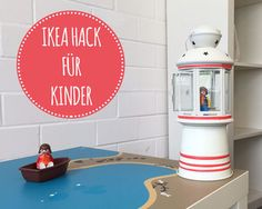 IKEA HACK for Kids: DIY lighthouse: Cute kids deko for birthday parties, play tables, ...  with basics from ikea.