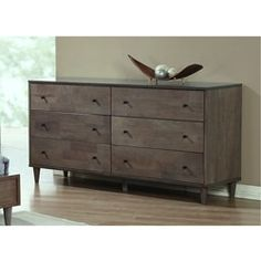 Shop for Vilas Light Charcoal 6-drawer Dresser. Get free shipping at Overstock.com - Your Online Furniture Outlet Store! Get 5% in rewards with Club O!