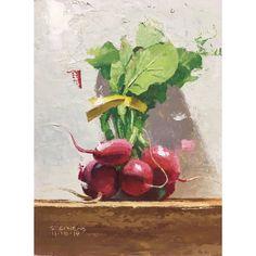 "Craig Stephens on Instagram: ""Radishes, 6""x8"". Oil on hardboard. #paintingaday #dailypainting #dailyart #oilpainting #radishpainting #contemporaryrealism…"" Painting, Art, Art Background, Painting Art, Kunst, Gcse Art, Paintings, Painted Canvas, Art Education Resources"