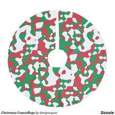 Christmas Camouflage Brushed Polyester Tree Skirt