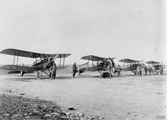 A line-up of SE.5a's of 'C' Flight, No 2 Squadron, Australian Flying Corps at Savy, near Arras, 1918