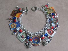 I want this. Grateful Dead Charm Bracelet. $39.99, via Etsy.