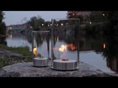 Romeo & Juliette - Ethanol Tabletop Fire Features by Eco-Feu Foyers, Tabletop, Tea Lights, Fire, Candles, Youtube, Beautiful, Design, Table