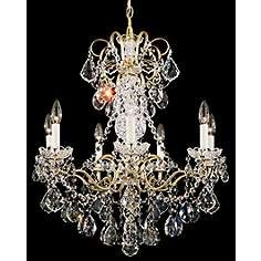 """Schonbek New Orleans Collection 24"""" Wide Crystal Chandelier"""