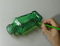 "Check out new work on my @Behance portfolio: ""Drawing a green bottle"" http://on.be.net/1GttuP3  WATCH DRAWING VIDEO: https://youtu.be/Byo2wAG9A5Q?list=PLEKv0jWmqLM3uGkCTtLBn6Gof2WRe6n7Y #drawing #marcellobarenghi #3Dart #art #hyperrealism"