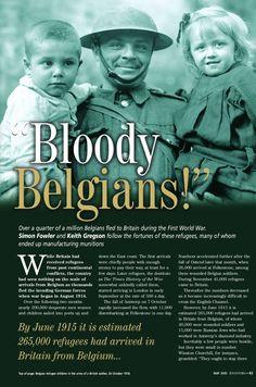 Issuu | Bloody Belgians! | Belgische vluchtelingen in Birtley, Elisabethville, Durham, Noord-Oost Engeland, Groot-Britanië tijdens de 1ste Wereldoorlog.