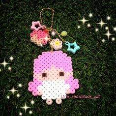 Little Twin Stars perler beads by gift_sweetdeco