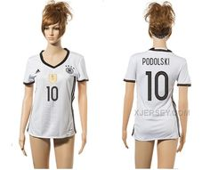 http://www.xjersey.com/germany-10-podolski-home-euro-2016-women-jersey.html GERMANY 10 PODOLSKI HOME EURO 2016 WOMEN JERSEY Only 33.11€ , Free Shipping!