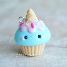 #kawaii #charms #polymer #clay #icecream #cone #cupcake #charm