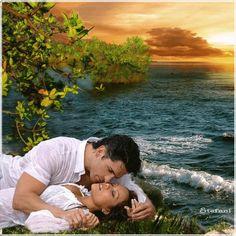 TOUCHING HEARTS: LOVE / COUPLE / ROMANCE - ANIMATED GIF