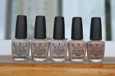 OPI nudes: skull & glossbones, Did You 'ear About Van Gogh?,  Don't Bossa Nova Me Around, don't pretzel my buttons, tickle my france-y.