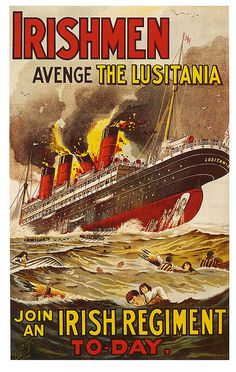 Lusitania: On May 7, 1915, less than a year after World War I  erupted across Europe, a German U-boat torpedoed and sank the RMS Lusitania, a British ocean liner en route from New York to Liverpool, England.  The sinking of the ship enraged Americans and in order to keep the US from entering the war, German issued the Sussex Plan.