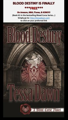 The first installment in the bestselling Blood Curse Series is finally free (on Amazon, B&N, iTunes, & Kobo).
