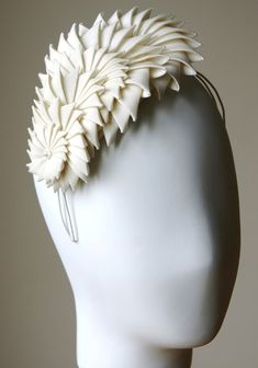 Ivory origami headband by Esther Louise millinery