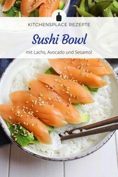 In diesem Beitrag zeige ich Dir meine Sushi-Bowl, mit der Du ganz schnell Sushi genießen kannst, ohne auf den Sushilieferanten warten zu müssen. Sushi Bowl, Food Bowl, Foodblogger, Cantaloupe, Healthy Recipes, Healthy Foods, Avocado, Moment, Food And Drink
