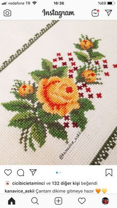 Cross Stitch Love, Cross Stitch Flowers, Cross Stitch Designs, Cross Stitch Patterns, Hardanger Embroidery, Embroidery Motifs, Cross Stitch Embroidery, Small Flowers, Diy Flowers