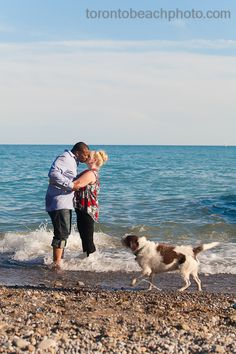 Water, love, and a dog. Yep. Toronto Beaches!