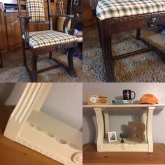 Farmhouse shelf, upcycled chair, diy, recycled chair, antique.