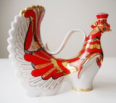 Currently at the auctions: Lomonosov Imperial Porcelain Factory - Decanter wine Firebird bird - gold le.