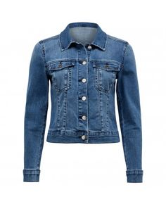Add the perfect light layer to your ensemble with our classic blue denim jacket. Wear yours with a floaty mini dress and white sneakers for a casual, off-duty look. Ladies Jackets, Jackets For Women, Clothes For Women, Forever New, Jackets Online, Off Duty, White Sneakers, Blue Denim, Coats