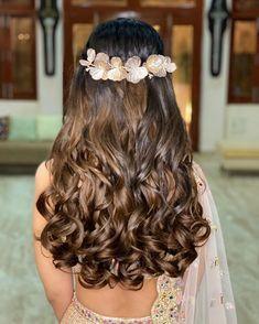 Easy Hairstyles For Long Hair, Wedding Hairstyles For Long Hair, Open Hairstyles, Bride Hairstyles, Curls For Long Hair, Curly Hair, Bridal Hair Buns, Long Bob Haircuts, Hair Videos