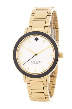 Women's Gramercy Black Enamel Bezel Bracelet Watch by kate spade on @nordstrom_rack