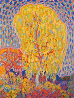 """ Leo Gestel (Dutch, 1881-1941) Autumn Tree (Herfstboom), 1911 Gemeentemuseum Den Haag, Amsterdam, Holland  """