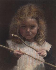 Portrait pastel sec - portrait soft pastel -Jean-Francois Le Saint - Pastel (unfinished) 24x30cm