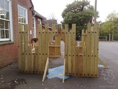 Outdoor Forts, Kids Indoor Playground, Outdoor Classroom, Play Spaces, Boys Playing, Shed, Outdoor Structures, Explore, Landscape