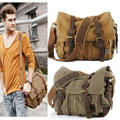Cheap bag shopper, Buy Quality bag share directly from China bag hand bag Suppliers: 2016 Canvas Leather Crossbody Bag Men Military Army Vintage Messenger Bags Sports Shoulder Bag Casual Travel Bags I AM L Mens Carry On Bag, Mens Travel Bag, Travel Bags, Military Messenger Bag, Vintage Messenger Bag, Messenger Bags, Mens Crossbody Bag, Crossbody Shoulder Bag, Large Shoulder Bags