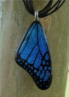 #fused glass Butterfly wing
