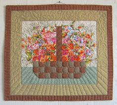 The quilting makes it shine! OMG this was my first quilt pattern I made! Small Quilt Projects, Quilting Projects, Quilting Designs, Hanging Quilts, Quilted Wall Hangings, Scrap Quilt Patterns, Applique Quilts, Small Quilts, Mini Quilts