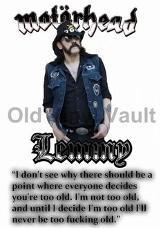 """Lemmy Kilmister Poster With Inspirational Quote """"NEW"""" 